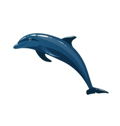 Cute colorful dolphin isolated on white background vector image