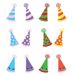 Various Party Hats Pack vector image