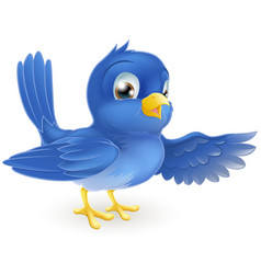 bluebird pointing vector image vector image