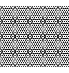 diagonal mesh seamless pattern with hexagons vector image vector image