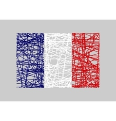France flag design concept vector image vector image