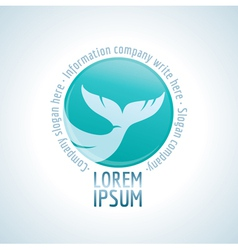 Logo tail fish vector image