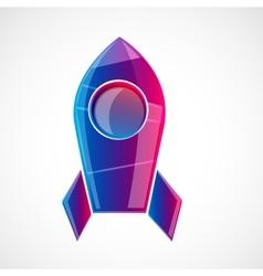 Rocket design concept vector image vector image