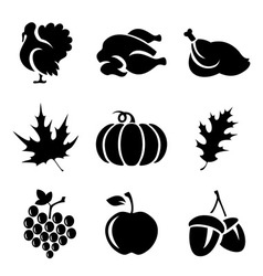 Thanksgivin icons vector image