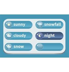 Winter weather vector image