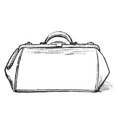 A handbag vintage engraving vector