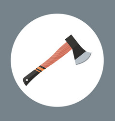 axe icon working hand tool equipment concept vector image vector image
