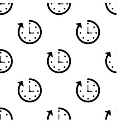 clock seamless pattern background icon flat vector image