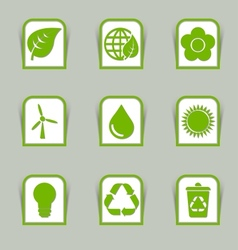 Ecological icon sticks vector image