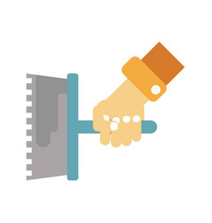 hand holding float vector image vector image