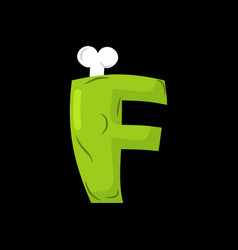 letter f zombie font monster alphabet bones and vector image vector image