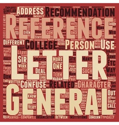 Letters of reference defined text background vector