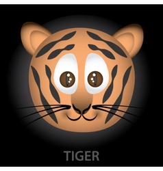 tiger cartoon character head eps10 vector image