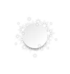 Abstract Christmas snowflakes background vector image vector image