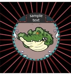 Portrait of alligator in a circle vector image