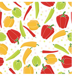 seamless pattern background peppers paprika vector image
