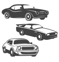 set of cars icons isolated on white background vector image vector image