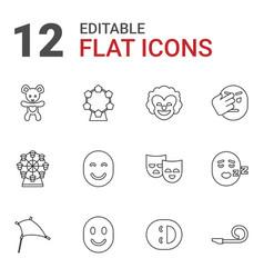 12 joy icons vector