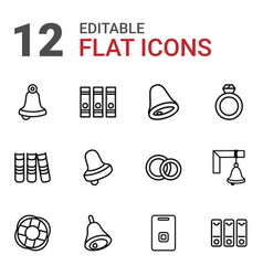 12 ring icons vector