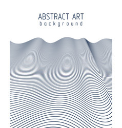 Abstract background with wavy lines pattern vector