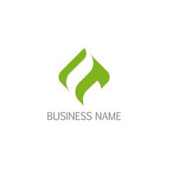 abstract square eco green logo vector image