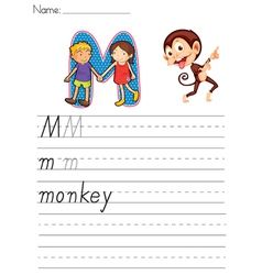 Alphabet worksheet vector image