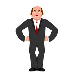 Angry businessman aggressive boss evil manager vector