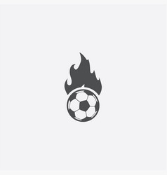 ball fire icon vector image