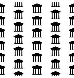 Bank symbol seamless pattern vector