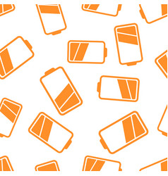 battery icon seamless pattern background business vector image