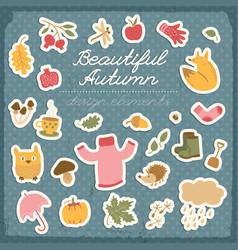 beautiful autumn design elements vector image