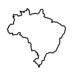 Brazilian map isolated icon vector