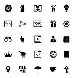 Business plan icons on white background vector