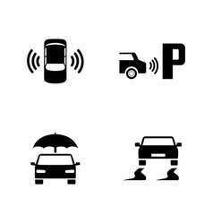 Car safety simple related icons vector