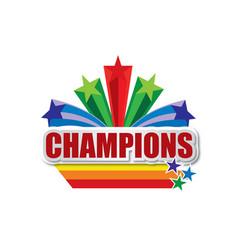 Champions design vector