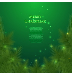 christmas card with spruce branchesillumination vector image vector image
