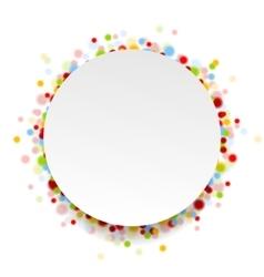 Circle design with shiny light confetti vector image