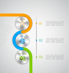 circle modern infographic vector image