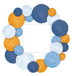 Colorful yarn balls for knitting vector