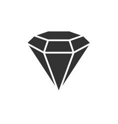 diamond black icon vector image