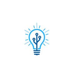 Digital idea logo icon design vector