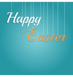 Easter rabbit and egg in grass vector image