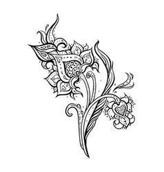exotic paisley ethnic ornament hand drawn boho vector image
