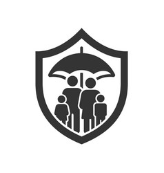 Family life insurance icon image vector