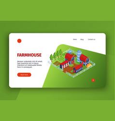 Farmhouse landing page design vector