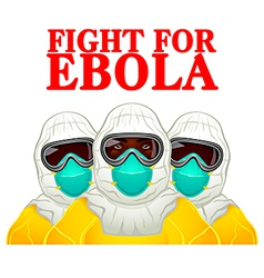 Fight for Ebola vector image