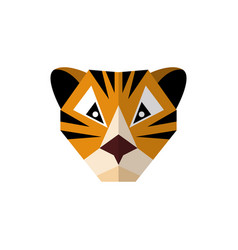 Flat style icon tiger on a white background vector