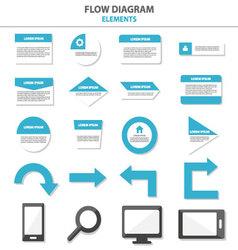 Flow diagram Infographic elements flat design set vector