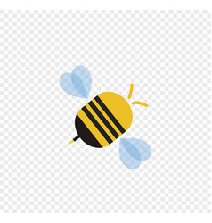flying cartoon bee isolated on transparent vector image