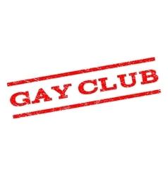 Gay Club Watermark Stamp vector image